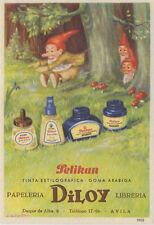 Papel secante de Pelikan: tinta estilográfica y goma arábiga.El enanito saltarín
