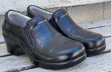 Alegria ERYN JET LUSTER Slip-Resist Clogs Womens Size 7.5M 8M EU 38 Black