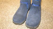 EUC LL Bean Women 6 Medium  Pull On Ankle Boots Blue Thinsulate Flex Cushion