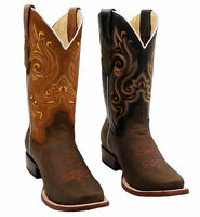 Men's Genuine Cowhide Leather Unique Style Rodeo Western Boots Handcrafted