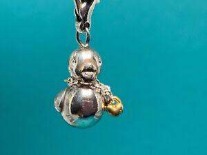 "Brighton Silver ""Rubber Duck"" Silver Chain with Gold Heart around NeckCharm NWOT"