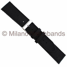 20mm Speidel Black Soffice Tone Stitched Leather Mens Flexible Watch Band 621720
