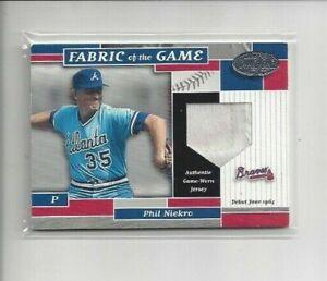2002 Leaf Certified Phil Niekro Relic Atlanta Braves HOF /64 Rare A490