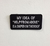 My idea of Help Art Badge Iron or Sew on Embroidered Patch