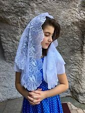 White Spanish style veils and mantilla Catholic Church lace latin (no.2) Large