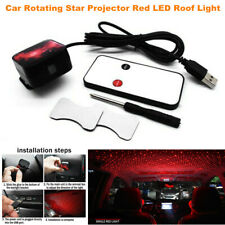Car Rotating Star Projector Red LED Night Roof Light Atmosphere lamp Universal