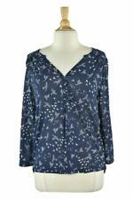 H&M Women Tops Blouses MED Blue Polyester