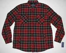 New American Rag Red Black Plaid Mens Size XL Lined Shirt Jacket