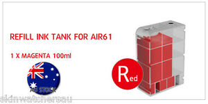 Red(Magenta) Refill Ink Tank with ink for AIR60,61,62,63 Auto Ink Refill machine