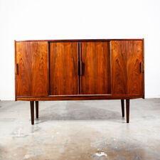 Mid Century Danish Modern Credenza Sideboard Brazilian Rosewood Bar Denmark Mcm