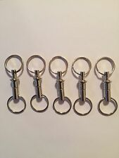 5 Detachable Pull Apart Quick Release Keychain Key Rings