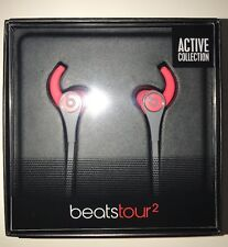 Genuine Beats Tour2 By Dr.Dre wired In-ear Headphones - Siren Red