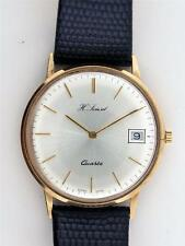 9k H. Samuel  Yellow Gold Quartz Wrist Watch With Date at 3 o'clock
