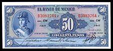 El Banco de Mexico 50 Pesos 27.DIC.1950 Serie CW, P-49d. UNC
