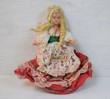 Antique Small Bruxelles Belgium Doll Puppet Open Close Eyes Blond Hair Cute Girl