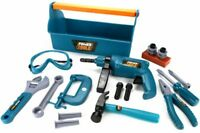 BOYS 22PC POWER TOOLS BUILDER SET CONSTRUCTION BUILDING ROLEPLAY DIY KIDS TOYS