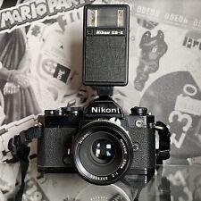 Nikon FM 35mm SLR Film Camera Nikkor 50mm f/2 Lens Film Tested Working Order