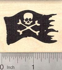 Jolly Roger, Pirate Flag Rubber Stamp, Skull and Cross Bones G21301 WM