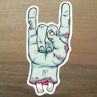 2x Metal Zombie Aufkleber Sticker Rock Monster Metall Rocker Musik Knochen Dead