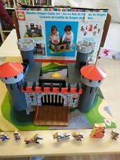 Alex Brands quality Wooden Dragon Castle play Set (4+ Years) retro Knights