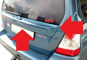 Subaru Forester SG Rear Tail Gate Center Garnish Middle Wing Spoiler Cover 06-08