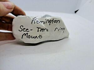Remington See-Thru Ring Mounts, one (1) set