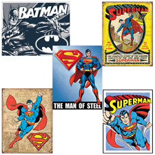 10pc 20pc Bulk Wholesale Lot Tin Signs Garage Humor Guns Comic Heroes Cartoons