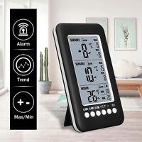 Drahtlose Gefriertruhe LCD Digital Thermometer Alarm Wetterstation +2 Sensor