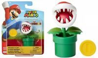 "Jakks Super Mario World of Nintendo Piranha Plant 4"" Action Figure NEW"