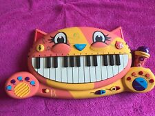 B.Toys B.Meowsic Musical Electronic Keyboard/ Piano With Microphone - Orange