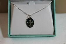 """CROSS GRAPHIC 18"""" NECKLACE AND MWS 925 STERLING SILVER PENDANT NEW IN BOX!"""
