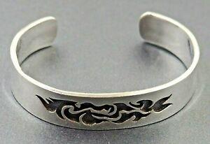 Sterling Silver 925 Women's Girls Cuff Bracelet Band Fine Sterling Jewellery