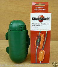 ClickShield Green Weather-Resistant Cord Lock Protect Outdoor Electrical Cords