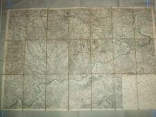 Königreich Sachsen alte Land-/Faltkarte,ca.1905,auf Leinen,guter Zustand,s.Text