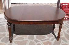 Elegante Tavolo Lombardo Ovale epoca '800 in NOCE allungabile 157x110 Restaurato