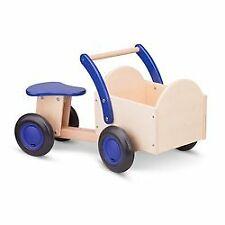 New Classic Toys - Drewniany rower z pojemnikiem cargo niebieski