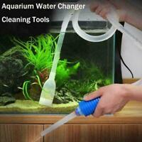 Aquarium Fish Tank Vacuum Water Change Siphon Gravel Pump Tools Filters B1L4