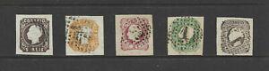 [Portugal 1862/1864 – King Luiz ] complete imperforated used set