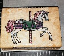 Carousel horse #3,comotion,E4,wooden, rubber stamp