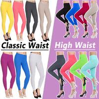 Womens Full Length High Waist & Classic Leggings Premium Cotton Plus Sizes FU2PR
