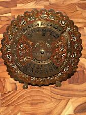 Vintage Braille Perpetual 28 year Desk Calendar Brass 1957 1984 Works With Stand