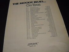 00004000 Moody Blues November 3 - December 12, 1978 Tour Dates Promo Poster Ad mint cond