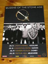 QUEENS OF THE STONE AGE - QOTSA - 2017 Australia Tour - Laminated Promo Poster