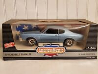 Ertl American Muscle 1970 Chevy Chevelle SS 454 LS6 1:18 Scale Diecast Car Blue