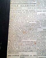 Rare CAPITAL OF THE CONFEDERACY Richmond VA Virginia Civil War 1862 Newspaper