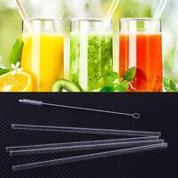 4 Stücke Glas Strohhalme Trinkhalme Wiederverwendbare Glass Drinking Straw 20CM