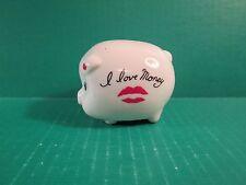 """Ceramic """"I Love Money"""" Piggy Coin Bank"""