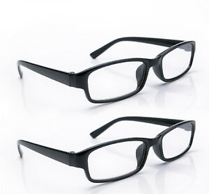 Reading Glasses 2 Packs Mens Unisex Womens UV Reader Trendy Designer