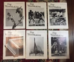 FINE WOODWORKING MAGAZINE   LOT OF 6  YEAR 1982
