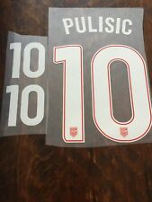 PULISIC 10 USA soccer jersey name set for 2017/18 Away jersey - black kit